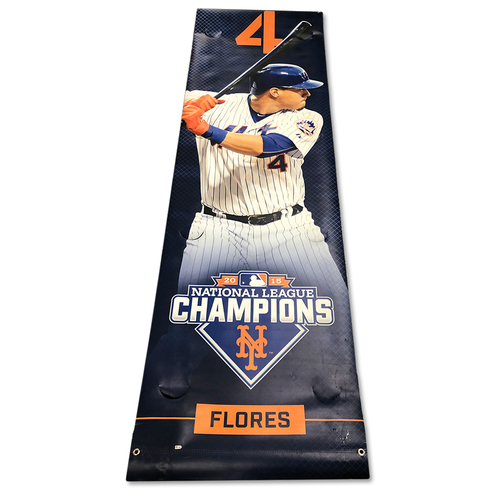 Photo of Wilmer Flores #4 - Citi Field Banner - 2016 Season