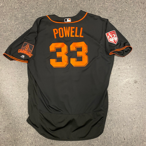 Photo of 2019 Team Issued Spring Training Jersey - #33 Alonzo Powell - Size 52