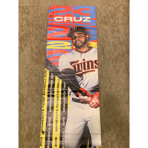 Photo of 2019 Minnesota Twins Team-Issued Street Banner - Nelson Cruz
