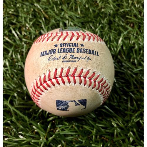 Photo of Game Used Baseball: Michael Chavis single off Ryan Yarbrough - August 5, 2020 v BOS
