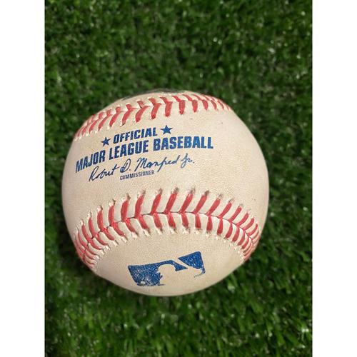 Photo of Gary Sanchez Game Used Hit Single Baseball - August 26, 2020 (Game 2) - Pitcher: Mark Melancon