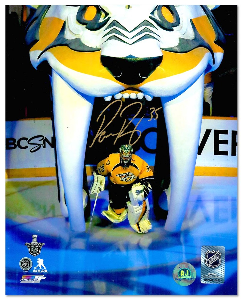 Pekka Rinne Nashville Predators Autographed Game Introduction 8x10 Photo