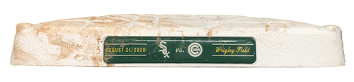 Photo of Game-Used 2nd Base -- Used in Innings 1 through 4 -- White Sox vs. Cubs -- 8/21/20