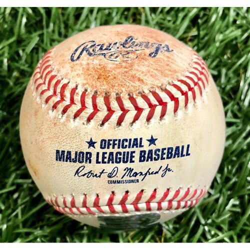 Photo of Game Used Baseball: Michael Brosseau single off Aaron Barrett - September 15, 2020 v WSH