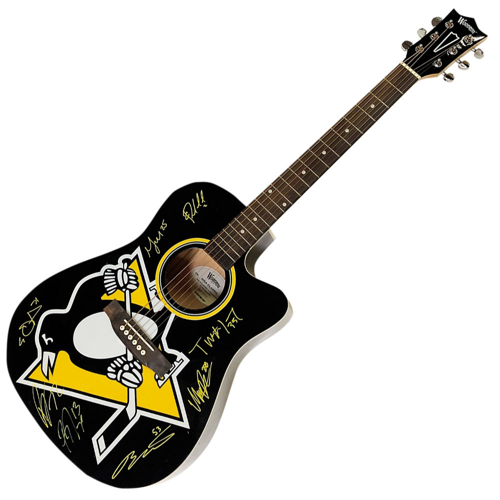 Pittsburgh Penguins  Multi-Signed Limited-Edition Woodrow Acoustic Guitar