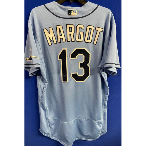 Photo of Game Used 2020 Spring Training Jersey: Manuel Margot - 2 Games - February 24 v BOS & March 4 v TOR