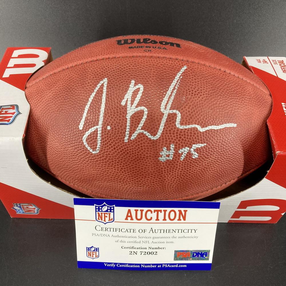 NFL - Browns Joel Bitonio Signed Authentic Football