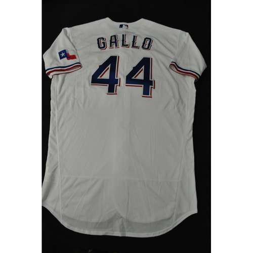Photo of Hank Aaron Chasing the Dream Foundation: Joey Gallo 2021 MLB All-Star Workout Day BP-Worn # 44 Jersey