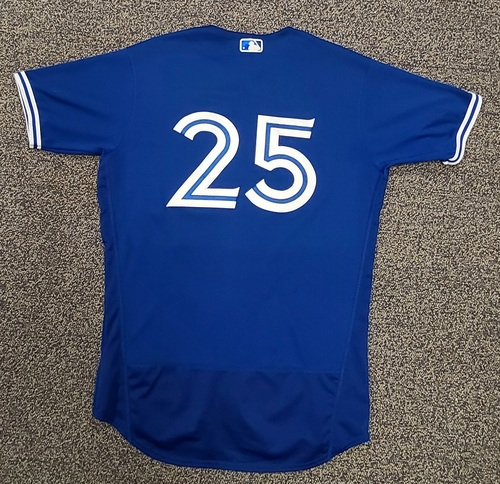 Photo of Authenticated Team Issued Spring Training Jersey: #25 Charlie Montoyo (2021 Season). Size 44.
