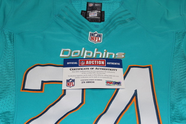 NFL Auction | CORTLAND FINNEGAN GAME ISSUED DOLPHINS JERSEY ...