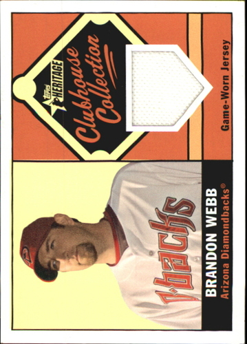 Photo of 2010 Topps Heritage Clubhouse Collection Relics #BWE Brandon Webb