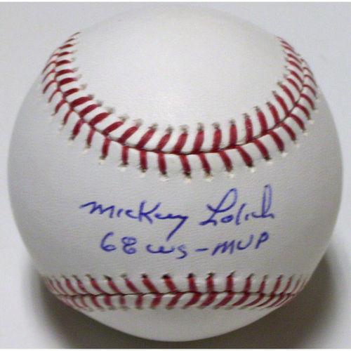 Photo of Mickey Lolich Autographed Baseball-1968 MVP