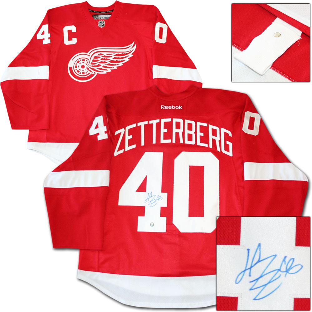 Henrik Zetterberg Autographed Detroit Red Wings Authentic Pro Jersey