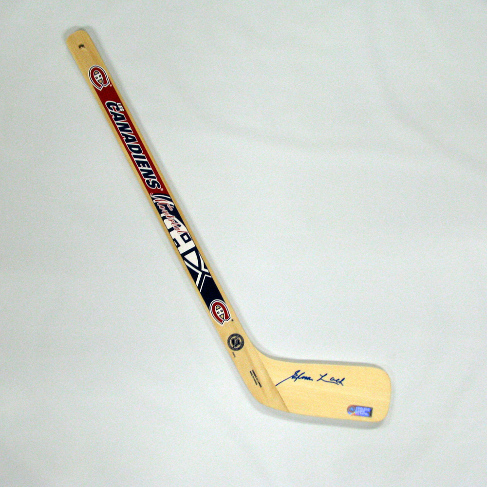 ELMER LACH Signed Mini Stick - Montreal Canadiens