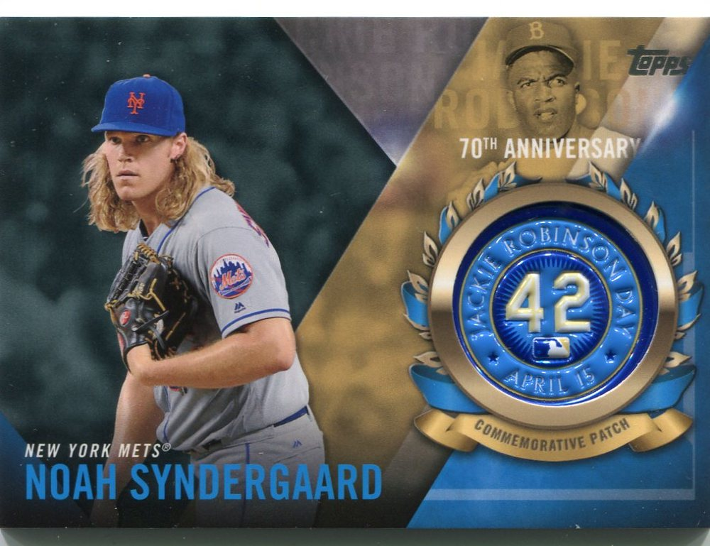 2017 Topps Jackie Robinson Logo Patches #JRPCNS Noah Syndergaard