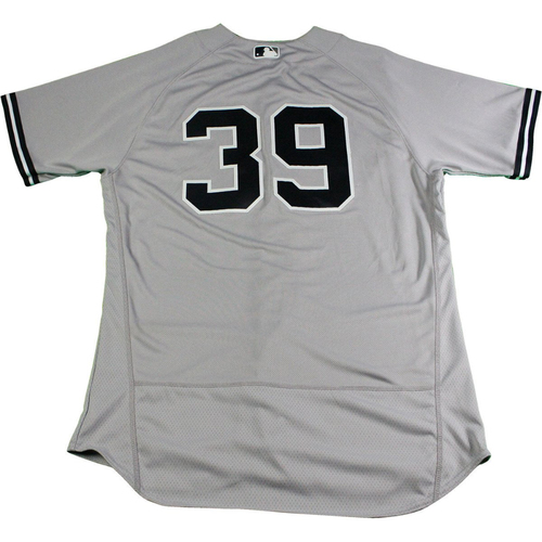 Photo of Tommy Layne New York Yankees 2017 Opening Day Game-Used #39 Road Jersey (4/2/2017). Jersey Size - 44