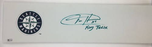 "Photo of Felix Hernandez ""King Felix"" Autographed Pitching Rubber"