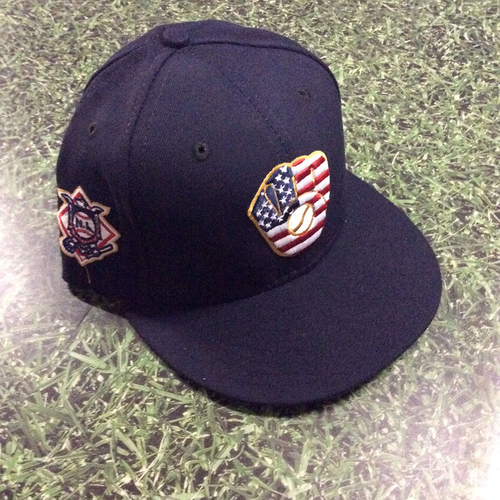 Photo of Stephen Vogt Team-Issued 2018 Stars & Stripes Cap