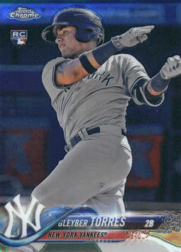 Photo of 2018 Topps Chrome #31 Gleyber Torres Rookie Card
