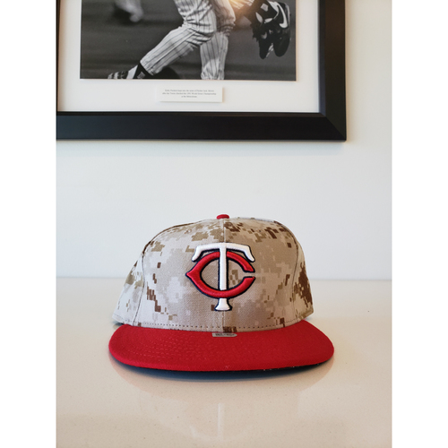 Photo of 2014 Brian Dozier Game-Used Memorial Day Hat