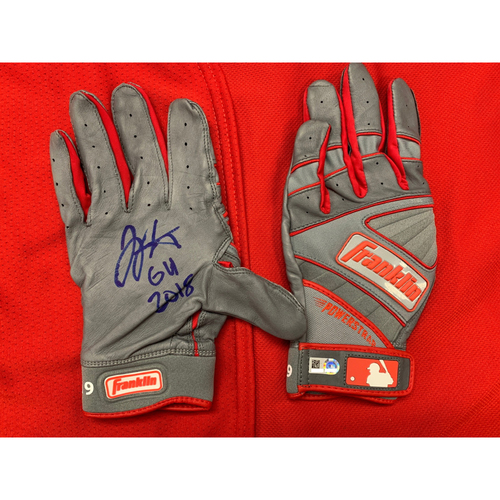 Joey Votto -- Autographed Batting Gloves -- Inscribed as