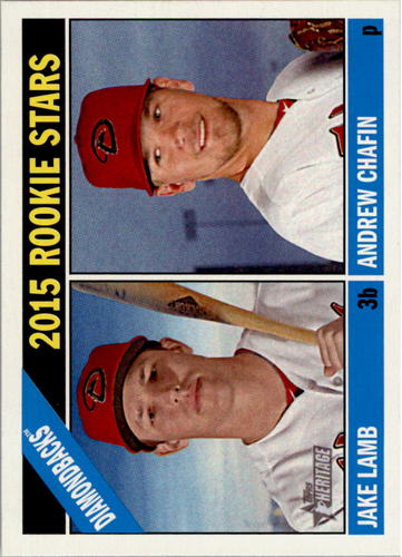 Photo of 2015 Topps Heritage #127 Andrew Chafin RC/Jake Lamb RC