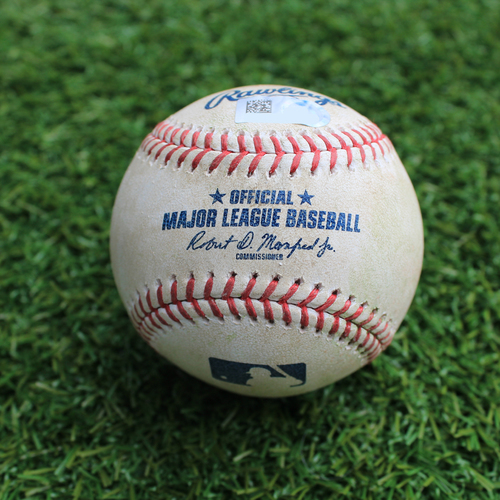 Photo of Game-Used Baseball: Brad Miller 540th Career Hit (CLE @ KC - 4/13/19)