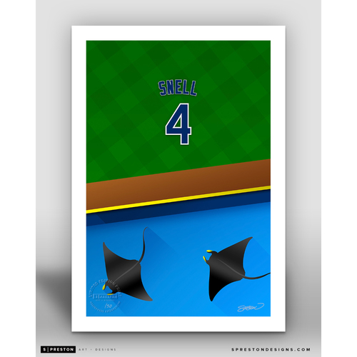 Photo of Minimalist Tropicana Field Blake Snell Player Series Art Print by S. Preston - Limited Edition