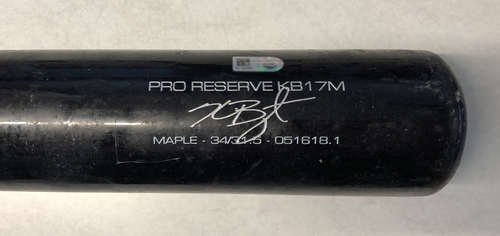 Photo of Kris Bryant Game-Used Cracked Bat -- David Hernandez to Kris Bryant, Double, Top 8 -- Cubs at Reds -- 6/29/19