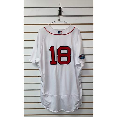 Photo of Mitch Moreland Game Used October 14, 2018 Home Jersey