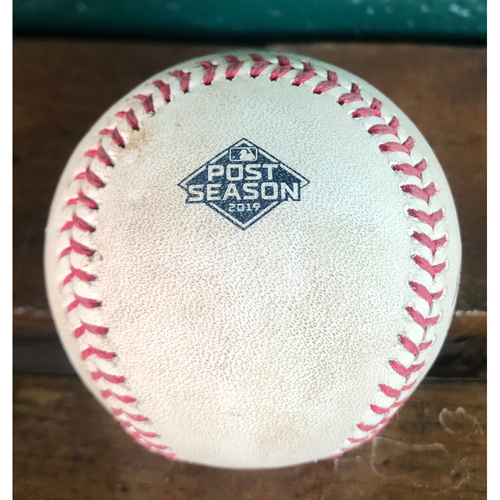 Photo of Cardinals Authentics: Game-Used NLCS Pitched Baseball from Max Scherzer to Dexter Fowler *Walk*