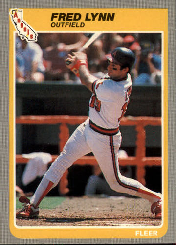 Photo of 1985 Fleer #307 Fred Lynn