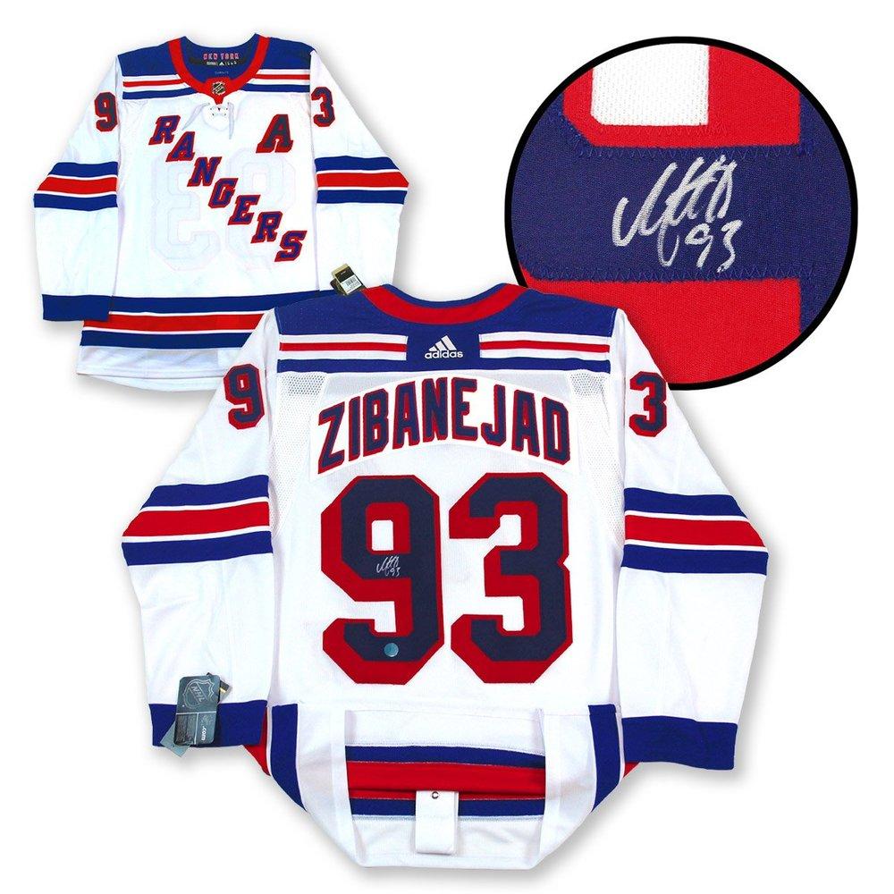Mika Zibanejad New York Rangers Autographed White Adidas Authentic Hockey Jersey