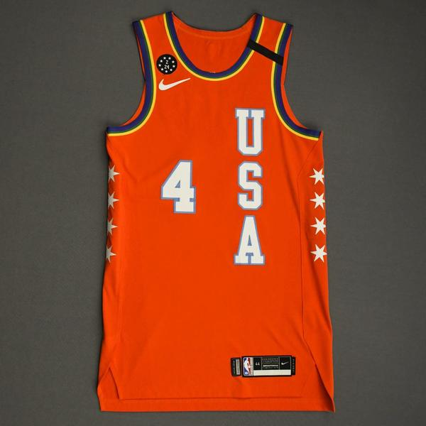 Image of Devonte' Graham - 2020 NBA Rising Stars - Team USA - Game-Worn 1st Half Jersey