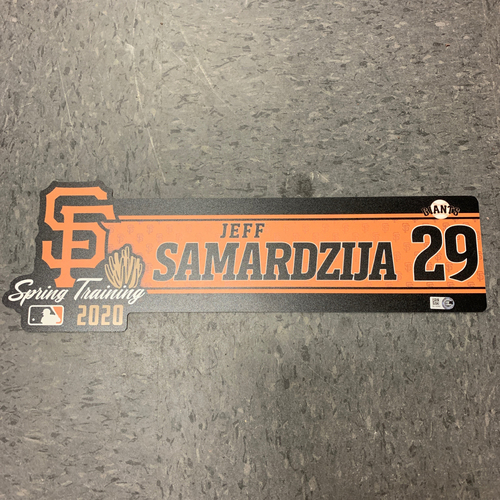 Photo of 2020 Team Issued Spring Training Locker Tag - #10 Jeff Samardzija
