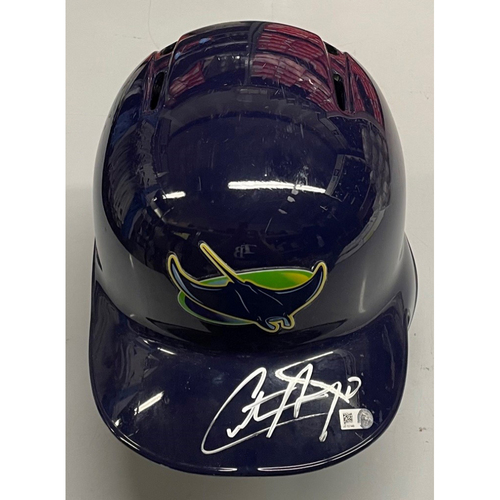 Photo of Rays Baseball Foundation: Autographed Devil Rays Helmet - Christian Arroyo