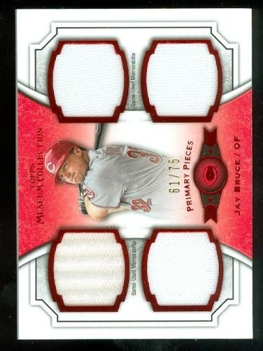 Photo of 2012 Topps Museum Collection Primary Pieces Quad Relics Red 75 #JBR Jay Bruce