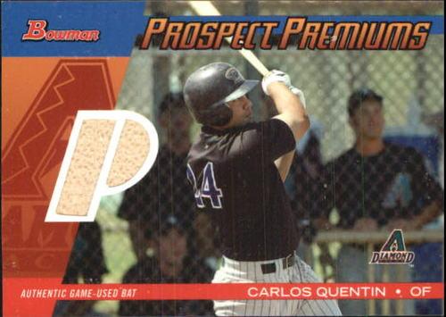 Photo of 2004 Bowman Draft Prospect Premiums Relics #CQ Carlos Quentin Bat B