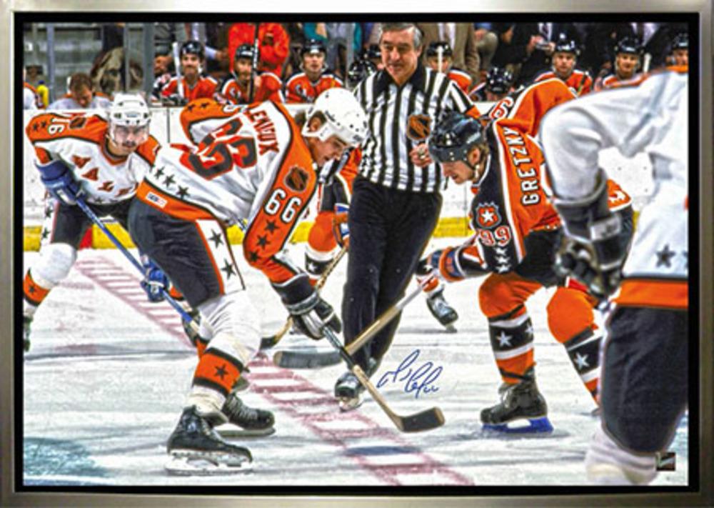 Signed Framed Mario Lemieux Pittsburgh Penguins 24x35