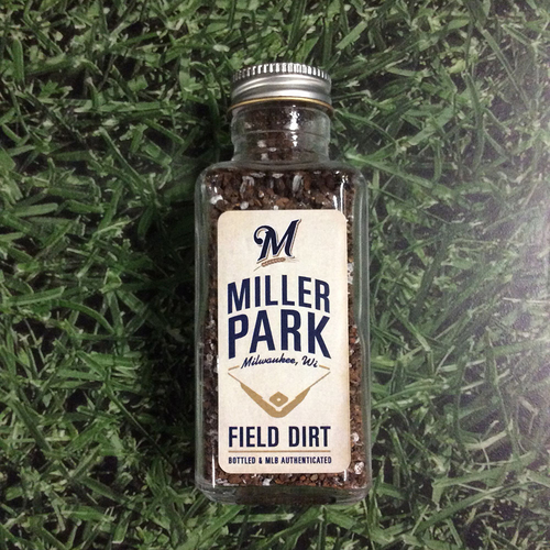 Photo of Milwaukee Brewers - Miller Park Game-Used Dirt Jar