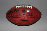 PANTHERS - TED GINN JR. SIGNED AUTHENTIC FOOTBALL