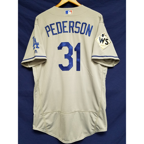 Photo of Joc Pederson 2017 Road World Series Team-Issued Jersey