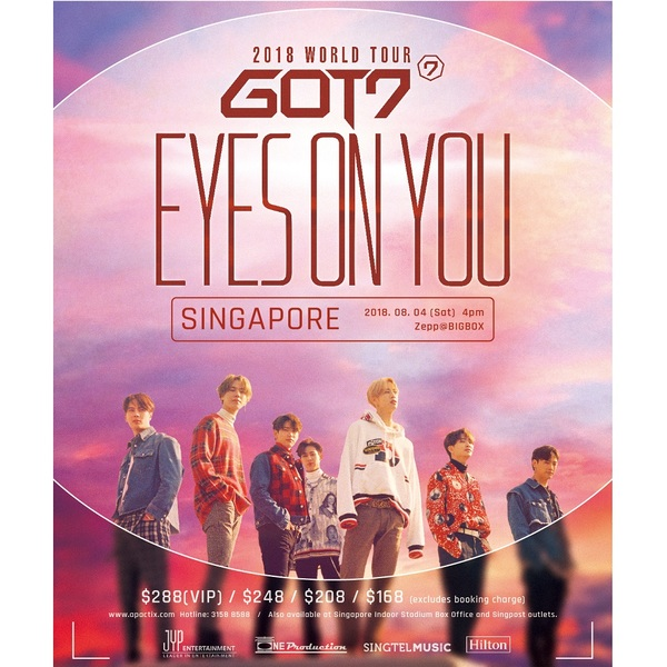 Click to view GOT7 2018 World Tour Eyes On You Concert Tickets.