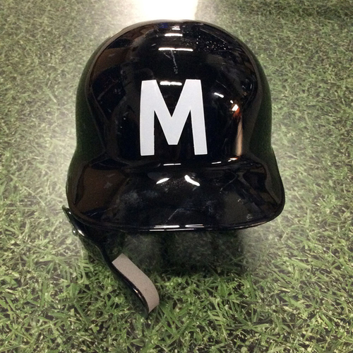 Photo of Christian Yelich 2018 Milwaukee Bears Game-Used Batting Helmet - 17th HR of 2018 (08/03/18)