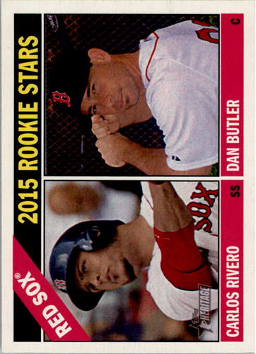 Photo of 2015 Topps Heritage #88 Dan Butler RC/Carlos Rivero RC