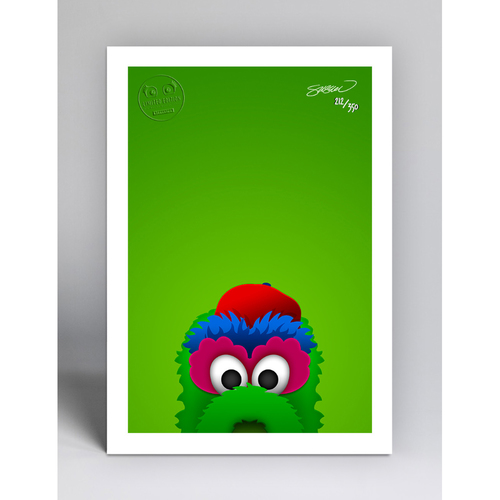 Photo of Phillie Phanatic - Limited Edition Minimalist Mascot Art Print by S. Preston  - Philadelphia Phillies
