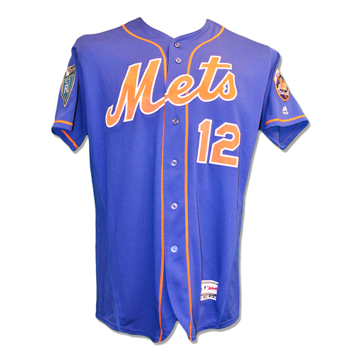 Photo of Juan Lagares #12 - Game Used 2018 Spring Training Jersey - Mets vs. Marlins - 3/25/18