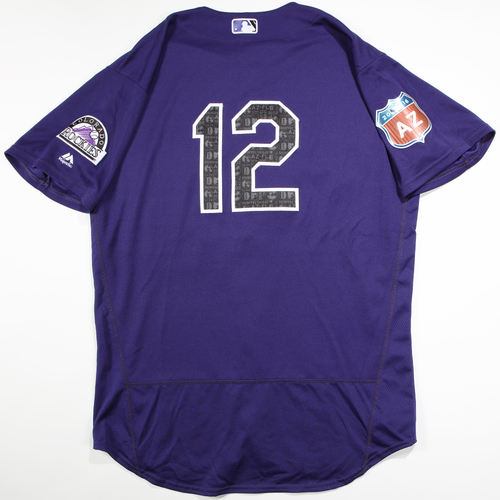 Photo of 2016  Spring Training -  Game-Used Jersey - Mark Reynolds (Rockies) - Size 48