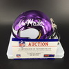 NFL - Vikings Alexander Mattison Signed Chrome Mini Helmet
