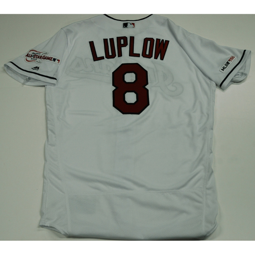 Photo of Jordan Luplow 2019 Team Issued Home White Jersey